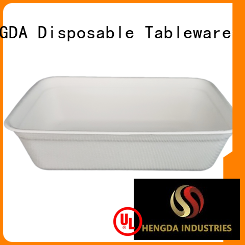 in bulk biodegradable eco friendly plates hinged HENGDA Disposable Tableware Brand
