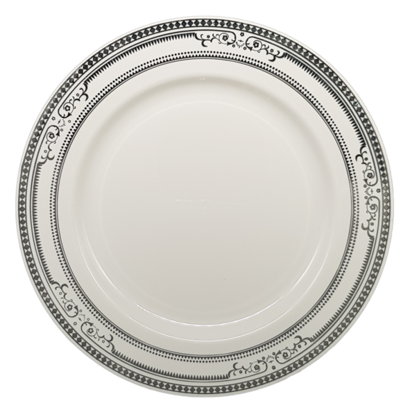hotstamping elegant wedding plates with silver gold rim design elegant HENGDA Disposable Tableware Brand