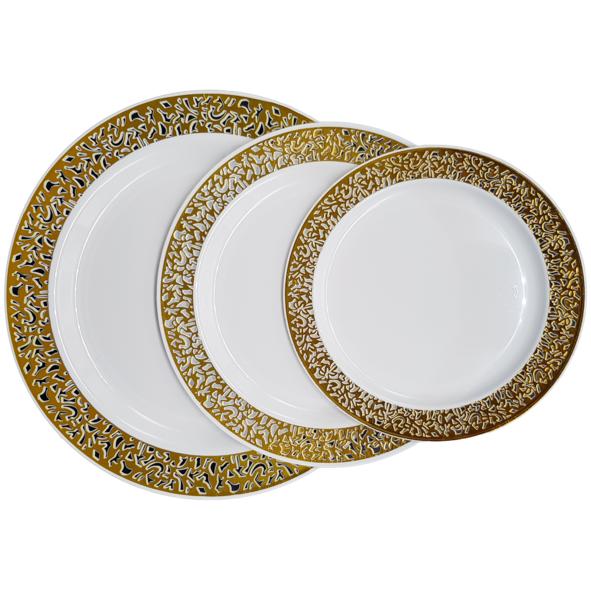 Hot-stamping PS Elegant Disposable Plastic Plate&Bowl
