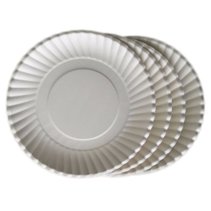 HENGDA Disposable Tableware Food Grade White and Colored Cardboard Good Quality Paper Plate Disposable Paper Plate image5