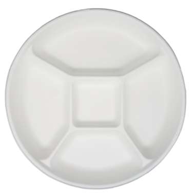 Biodegradable and Compostable Sugarcane Bagasse Plate