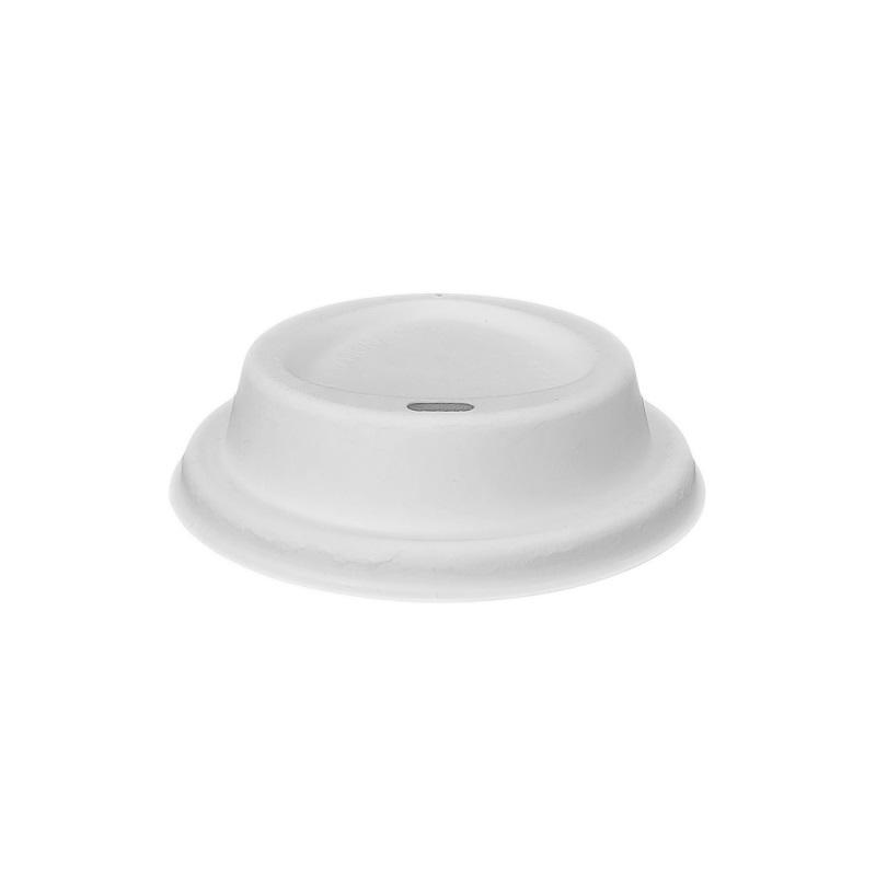 Biodegradable and Compostable Sugarcane Bagasse Coffee Cup Lid