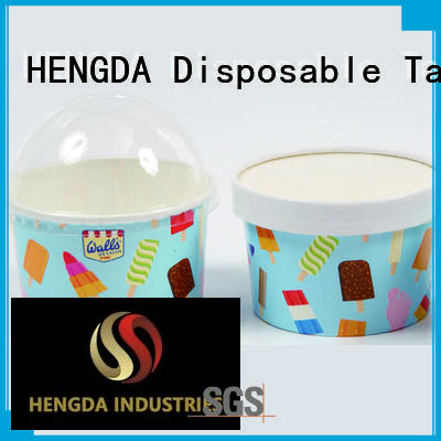 HENGDA Disposable Tableware Brand wedding colored party pink paper bowls containers