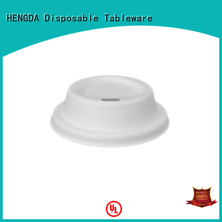HENGDA Disposable Tableware bagasse lid wholesale for snack