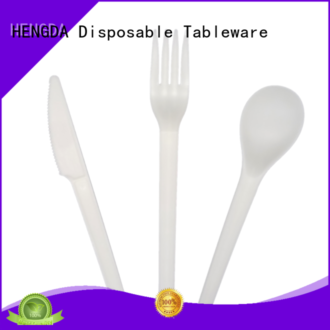 100% food grade psm eco friendly cutlery HENGDA Disposable Tableware Brand