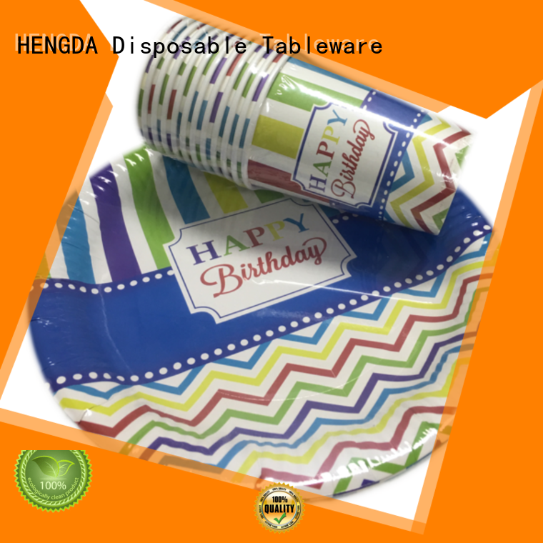 Quality HENGDA Disposable Tableware Brand quality paper plates cups food