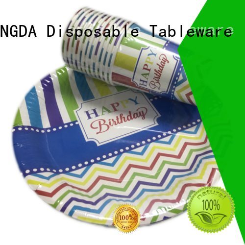 HENGDA Disposable Tableware affordable good quality paper plates factory price for activities