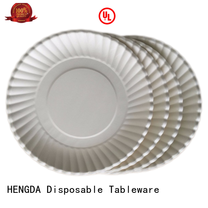 HENGDA Disposable Tableware Brand wedding quality quality paper plates hotstamping supplier