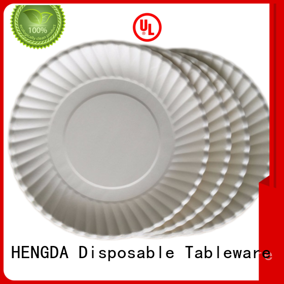 quality paper plates environment-friendly quality HENGDA Disposable Tableware Brand company