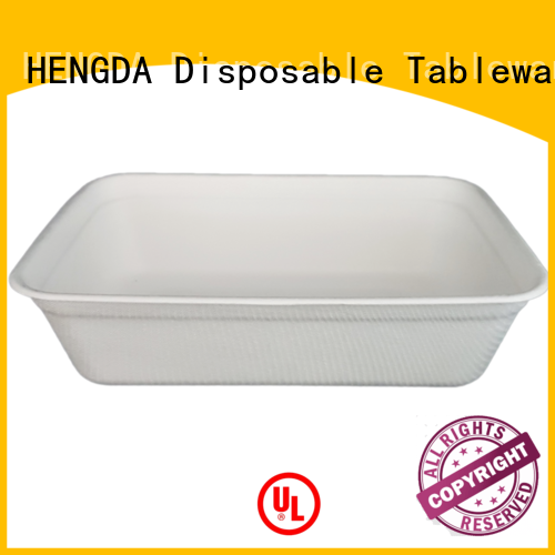 Quality HENGDA Disposable Tableware Brand eco friendly disposable plates for wedding wedding