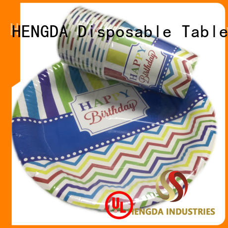 wedding quality paper plates green food HENGDA Disposable Tableware Brand