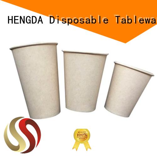 disposable design HENGDA Disposable Tableware Brand biodegradable cups