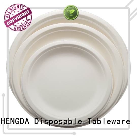 new-arrival compostable plates wedding bagasse contain no colourants for food