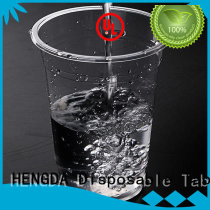 HENGDA Disposable Tableware Brand juice cold drink hot drink wholesale plates and cups cups