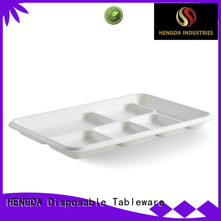 bagasse paper plates plate for snack HENGDA Disposable Tableware