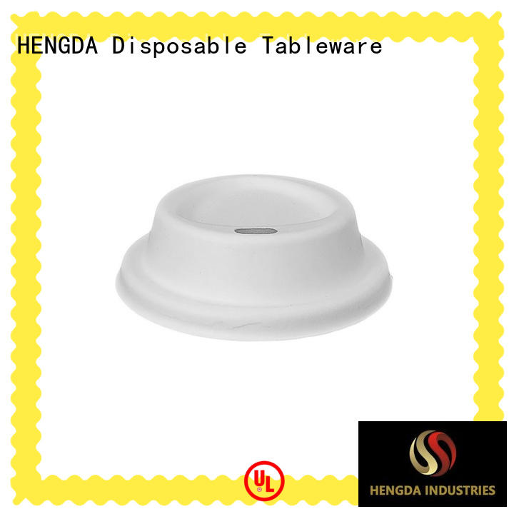 hot sale bagasse lid wholesale for hotel