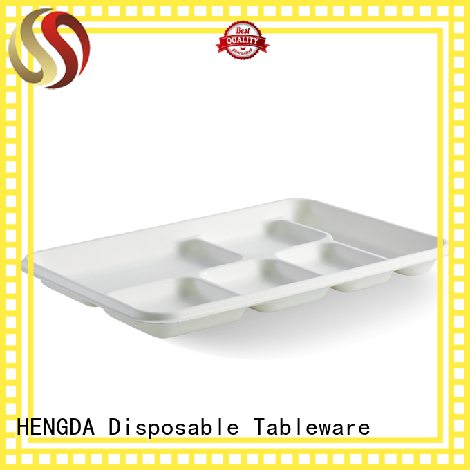 compostable eco friendly plates customization for canteen HENGDA Disposable Tableware