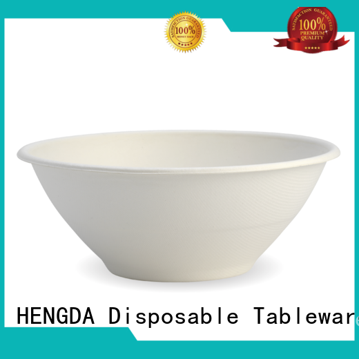 HENGDA Disposable Tableware affordable sugarcane bowls order now for meeting