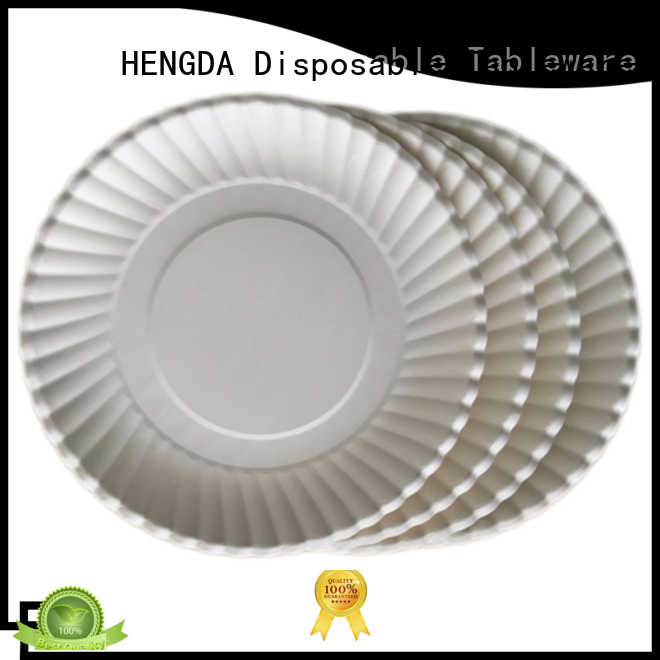 HENGDA Disposable Tableware Brand environment-friendly white disposable paper plates plate factory