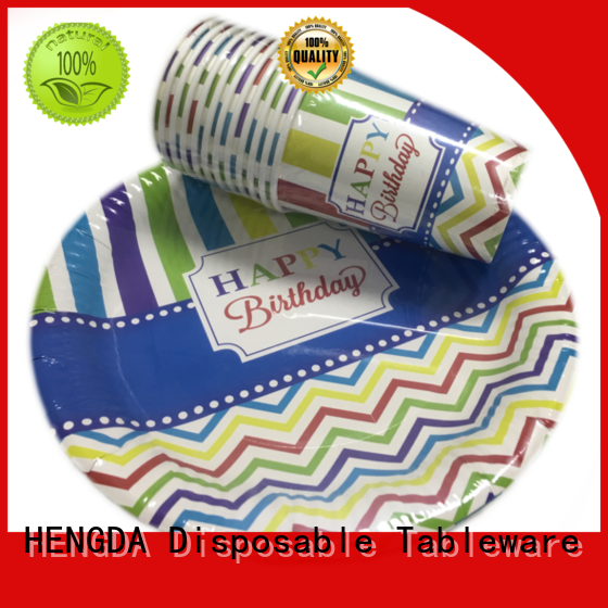HENGDA Disposable Tableware plates strong paper plates directly sale for food festival