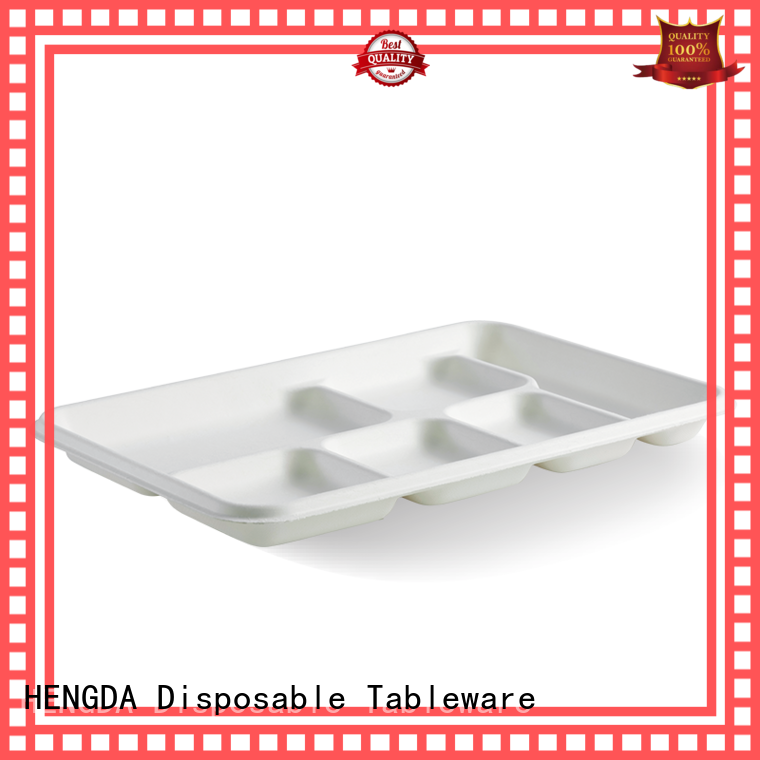 eco disposable plates bagasse for snack HENGDA Disposable Tableware