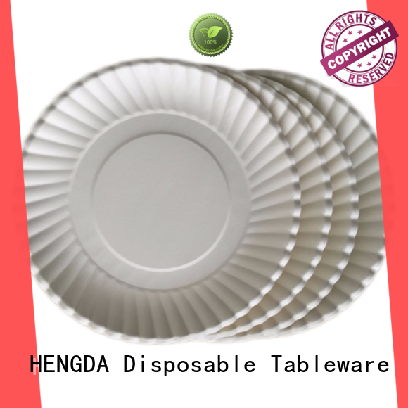 HENGDA Disposable Tableware disposable disposable paper plates with good price for snack