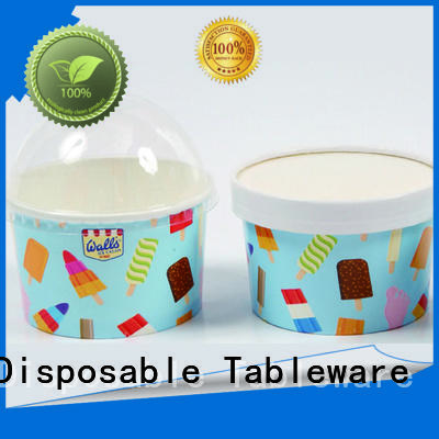 HENGDA Disposable Tableware Brand custom colored Eco-friendly ice cream cups wholesale manufacture