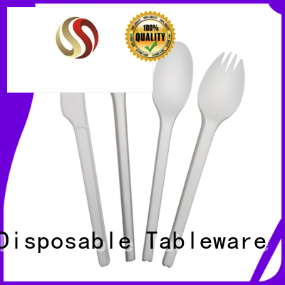 green cutlery party eco friendly cutlery HENGDA Disposable Tableware Brand