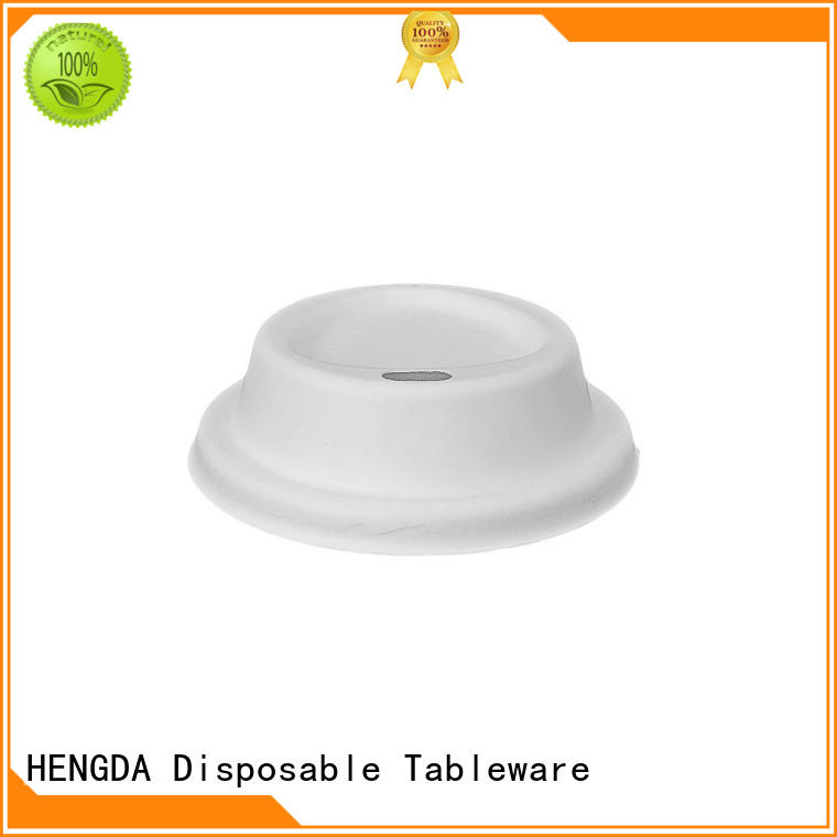 HENGDA Disposable Tableware bagasse lid company for meeting