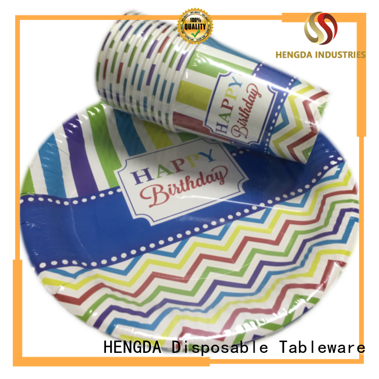 HENGDA Disposable Tableware cardboard disposable paper plates customization for activities