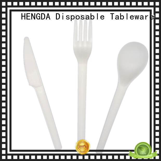 Hot biodegradable biodegradable cutlery compostable cutlery HENGDA Disposable Tableware Brand