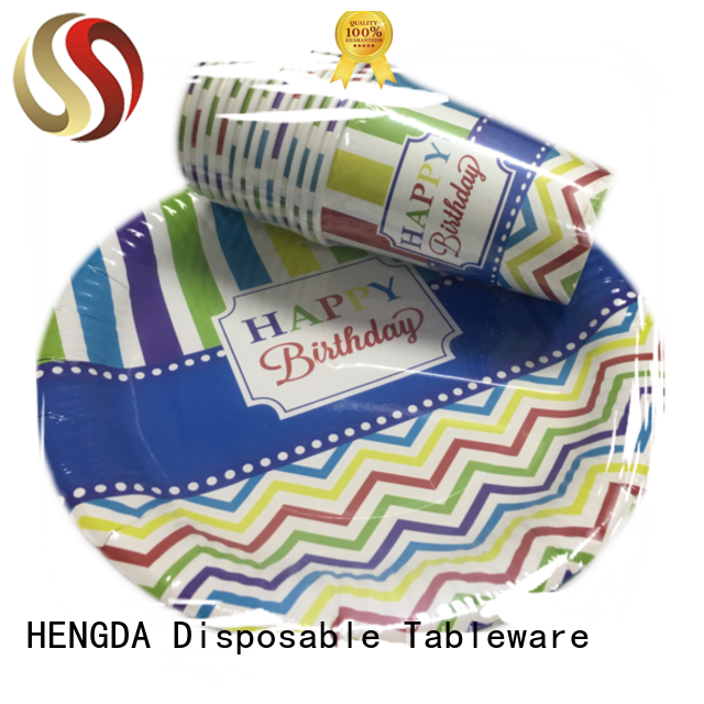 hotstamping cups disposable paper plates HENGDA Disposable Tableware Brand