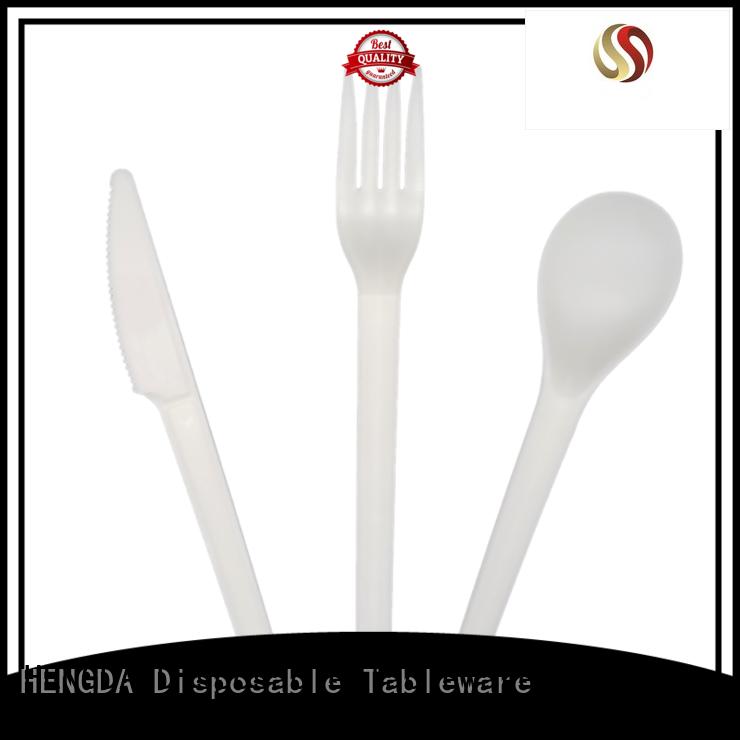 HENGDA Disposable Tableware Brand biodegradable wedding high grade eco friendly cutlery