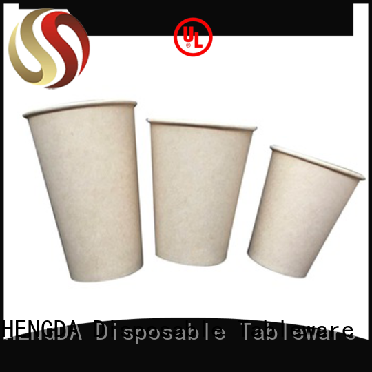 biodegradable paper cups pla for Mocha HENGDA Disposable Tableware