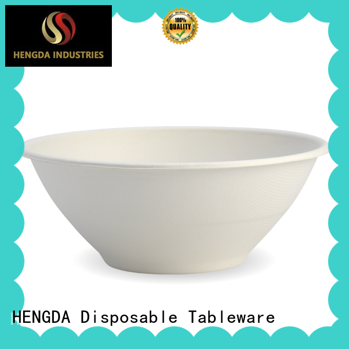 HENGDA Disposable Tableware eco-friendly sugarcane bowls from China for activities