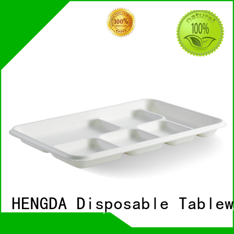eco friendly disposable plates for wedding hinged in bulk eco friendly plates tray HENGDA Disposable Tableware Brand