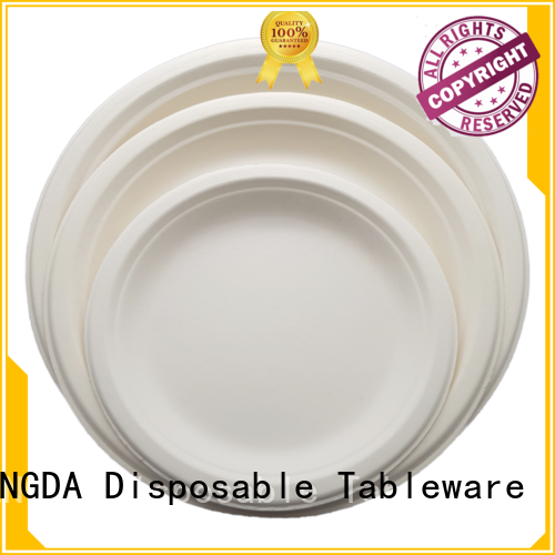 container bagasse environment-friendly eco friendly disposable plates for wedding HENGDA Disposable Tableware manufacture