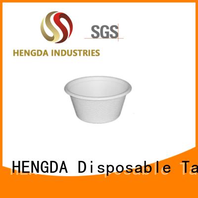 Hot sugarcane cups biodegradable HENGDA Disposable Tableware Brand