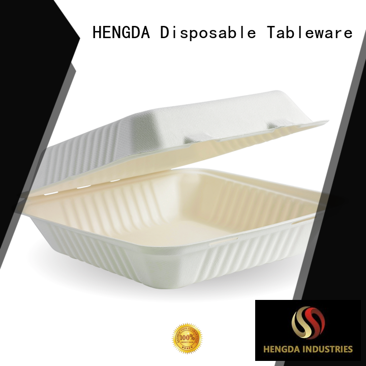 HENGDA Disposable Tableware bagasse sugarcane bowls inquire now for food festival