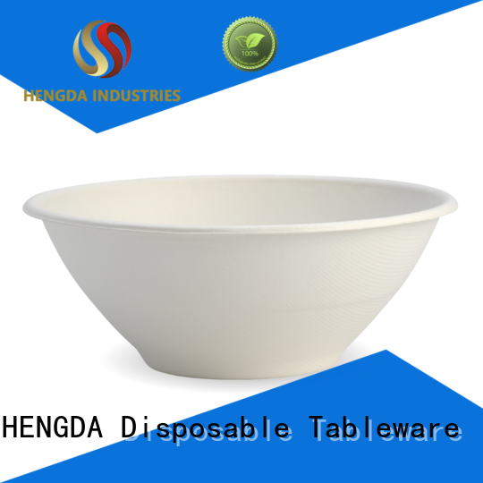 HENGDA Disposable Tableware hinged biodegradable bowls customization for food festival