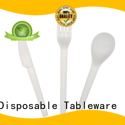 HENGDA Disposable Tableware Brand high grade cutlery green biodegradable cutlery