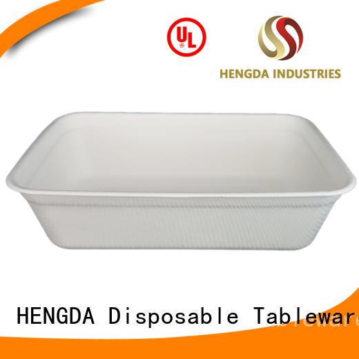 wedding bagasse eco friendly plates HENGDA Disposable Tableware Brand