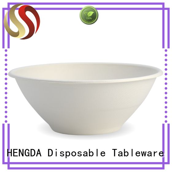 HENGDA Disposable Tableware best disposable bagasse soup bowls order now for snack