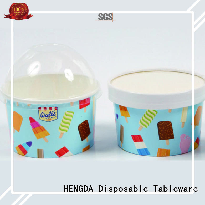 green with lid pink paper bowls HENGDA Disposable Tableware Brand