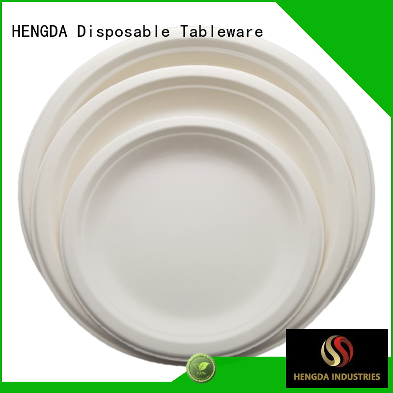 HENGDA Disposable Tableware compostable natural disposable plates customization for hotel
