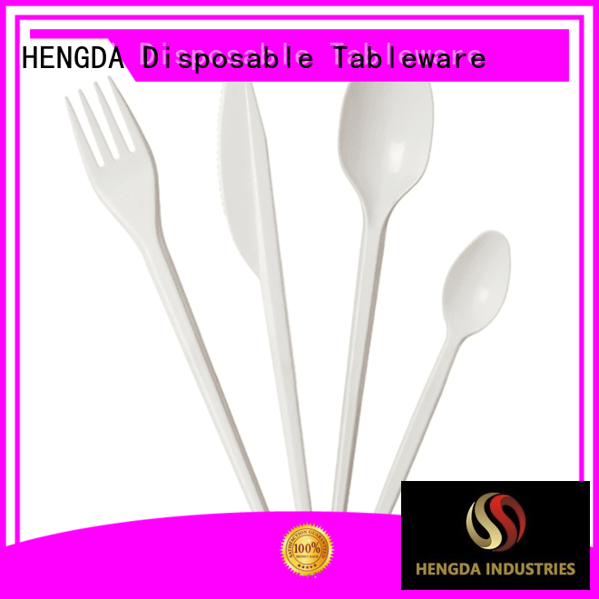 disposable plates and cutlery for parties sivler party cutlery HENGDA Disposable Tableware Brand