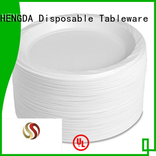 plate for wholesale disposable plates and cutlery for parties disposable HENGDA Disposable Tableware company