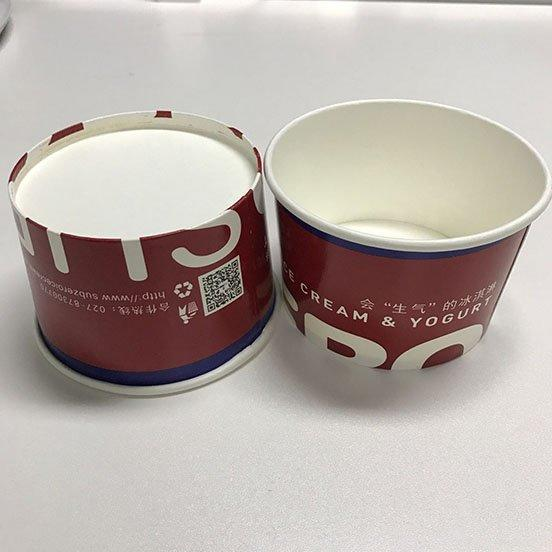 custom containers ice cream cups wholesale single wall HENGDA Disposable Tableware