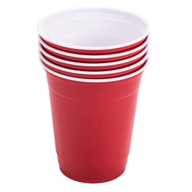 HENGDA Disposable Tableware 100% Food Grade PS/PET/PP Plastic Cup with Colorful Outside and White Inside Disposable Plastic Cup image4