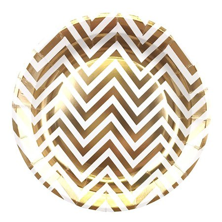 Fancy Hot-Stamping Gold and Silver Paper Plate-4